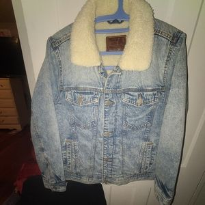 Abercrombie and Fitch Jean jacket with faux fur